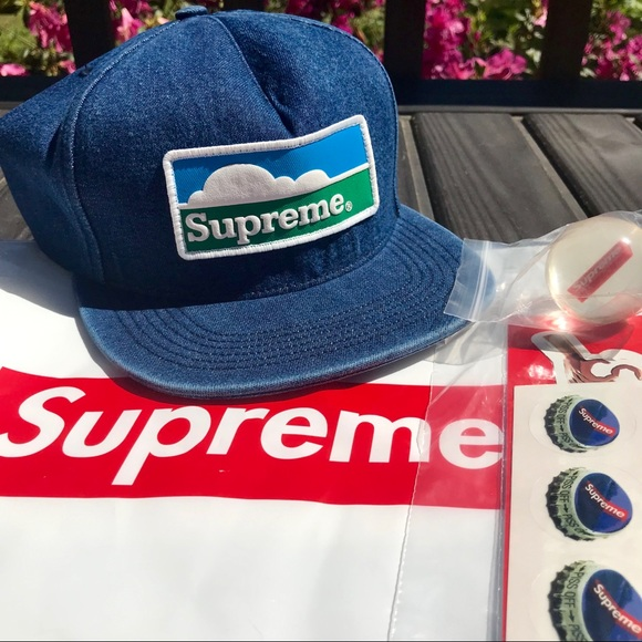 5d87e09e27315 HP☀ 🆕 SUPREME Horizon Denim 5 Panel Hat Bundle. NWT. Supreme.  179  999.  Size